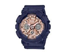 Casio G-Shock S Series A/D Resin Navy/Rose Gold Women's Watch GMAS120MF-2A2