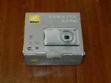 NEW in Box - Nikon Coolpix S3700 20.1 MP Camera - SILVER - 018208264780