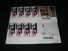 MAKE OFFER! Original GEORGE LUCAS THX 1138 Lobby Card Set ROBERT DUVALL