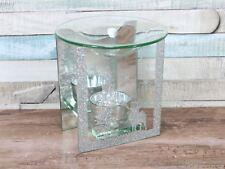 Winter Wonderland Silver Glitter Calentador de Aceite Quemador De Navidad