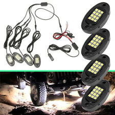 4x White LED Under Body Light Mini Rock Lamp For Car Offroad Truck Boat ATV Jeep