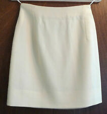 Vintage Gianni Versace Couture cream wool skirt - Size Italy 38 (UK 6)