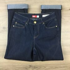 JAG High Rise Turn Up Crop Size 7 Women's Jeans Actual W25 L25.5 R9 (CD5)