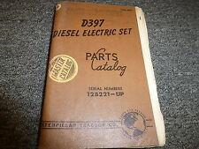 Caterpillar Cat D397 Diesel Electric Set Parts Catalog Manual Book S/N 12B221-Up