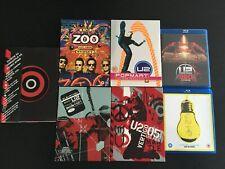 U2 LOT DE 6 DVD/BLU-RAY LIVE CONCERT + 2 SPECIAL EDITION ALBUMS