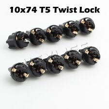 10x T5 Twist Socket Instrument Panel Cluster Plug Dash Light Bulb 73 74 79
