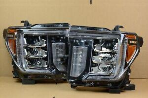 20 21 GMC Sierra 2500 3500 HD Left Right LH RH Full LED Headlight Set OEM
