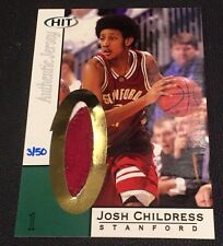 JOSH CHILDRESS 2004 SAGE HIT Gold PATCH 2 Color JERSEY Rookie #d 3/50 STANFORD