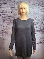 Halogen Women's X Large Charcoal Metallic Cold Shoulder Sleeve Sweater NWT NICE!