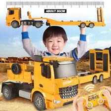 RC Car Truck Toy Remote Control Flatbed Semi Electronic Trailer Crawler Kid Fq