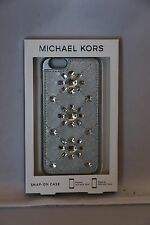 Michael Kors Jewel-Embossed Saffiano iPhone 6 Cover / Case - Ballet,Black,Silver