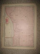 ANTIQUE 1895 SAINT ST LOUIS JOSEPH MISSOURI RAILROAD MAP TROLLEY SUPERB DETAILED
