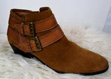 SAM EDELMAN Pippen Suede Buckle Ankle Boots Size 8
