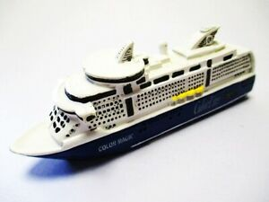 Ship Model Cruise Ship Ferry Color Magic Cruise Line 4 11/16in Poly