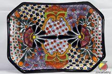 """11""""x8"""" Talavera Octagonal Dish Pottery by Castillo. Spend 100+ get 30% OFF"""