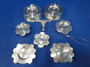 Rare 7 piece Shelby GT500KR Billet Aluminum Engine Cap Set free shipping