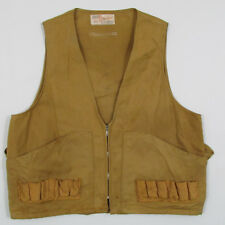 """Vintage 1960s Sears Sportswear Ted Williams Canvas Hunting Vest L Chest 44"""""""