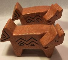 Laurel Burch Salt Pepper Shaker Set Animal Modern Design Vintage Cat Aztec