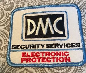 """DMC Security Services Electronic Protection Patch 3 1/4""""  Movie Prop #69"""