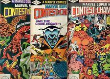 Marvel Super-Hero Contest of Champions #1 2 3 AVENGERS X-MEN SPIDER-MAN 1983 Fn-