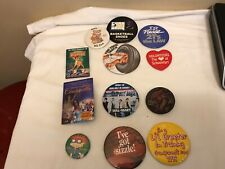 Walmart & Other Vintage movies buttons From The 80s And 90s! Lot Of 12 Pinbacks