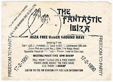 THE FANTASTIC IBIZA Rave Flyer Flyers 17/2/90 A6 Rare Acid House London illegal