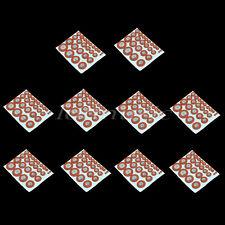 10sets of Sax Saxophone Orange Leather Pads For Alto Saxphone saxophone pads