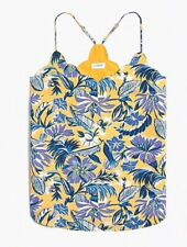 J. Crew Factory Scalloped Cami Floral Top Racerback Blouse NWT $55
