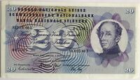SUISSE - 20 FRANCS (1971) SERIE 68 I - Billet de banque // TTB (N°045505)