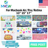 Stylish Design Silicone Keyboard Cover Skin For Macbook Pro Air Retina 13 15 17