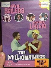 The Millionairess ex-rental region 4 DVD (1960 Peter Sellers comedy movie) RARE