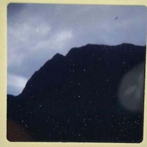 Vtg 1960s Ektachrome 35mm Color Slide Hawaiian Mountain Silhouette Bird Image