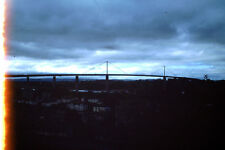 Vintage Kodak Kodachrome Slide Negative, Uknown Town Bridge, Sunset Scene