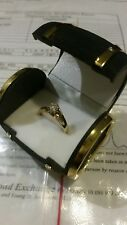 Diamond Cluster 0.5ct Engagement Ring Yellow solid 18CT Gold with Certificate