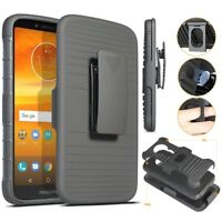 For Motorola Moto E5 Play/Cruise/Plus Z3 Play Shockproof Clip Holster Case Cover