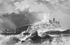 1853 PRINT: Ireland Dunstanborough & AD: Ohio Middleton Lithographers Printers
