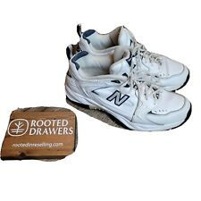 New Balance 348 White Blue Lace Up Womens Sneakers Shoes Low Top Athletic Sz 10