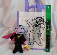 "Sesame Street Count Lot: 7"" Gund Plush Beanie NWT & 10"" Reusable Gift Bag Color"