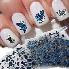 LC_ EC_24 fogli FIORE FARFALLA 3D nail art Adesivo Decalcomania DECORAZIONE