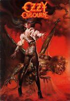 OZZY OSBOURNE 1986 THE ULTIMATE SIN UK CONCERT TOUR PROGRAM BOOK BOOKLET EX 2 NM