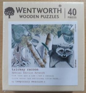 WENTWORTH JIGSAW 40 PIECES - TRICKSY RACOON (SPECIAL EDITION ARTWORK) NEW/SEALED