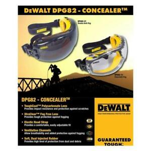 DeWalt DPG82 Concealer Clear/Smoke Anti-Fog Safety Goggles Various Quantities