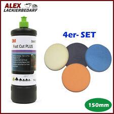 3M 50417 Perfect-it III Schleifpaste PLUS 1 kg + 4x Polierschwamm Set 150mm