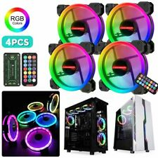 Computer Case PC Cooling Fan Light Bar RGB Adjust LED 120mm Quiet With IR Remote