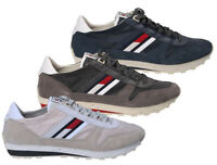 TOMMY HILFIGER JEANS scarpe uomo sneakers tessuto pelle camoscio tela casual