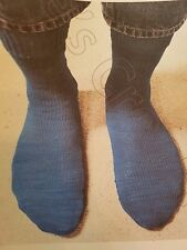 KNITTING MACHINE SOCK PATTERN by ANNE'S CREATIONS VERY EASY TO KNIT