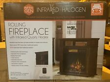 23Irm7491-W500 23� Rolling Fireplace Infragen Duraflame Heater Free Shipping