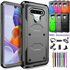 For Lg Stylo 6 Phone Hard Case Rugged Shockproof Slim Tpu Cover With Accessories