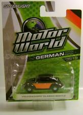 VOLKSWAGEN VW CLASSIC BEETLE BUG GREEN MACHINE CHASE CAR MOTOR WORLD DIECAST