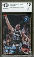 1995-96 Stadium Club Spike Says #SS9 Shaquille O'Neal Card BGS BCCG 10 Mint+